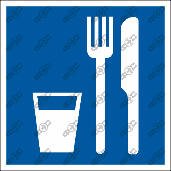 Знак D01 — Пункт (место) приема пищи