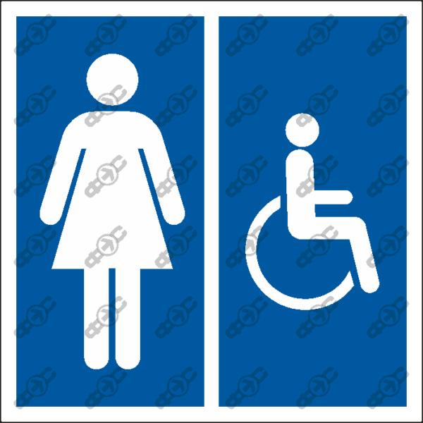 Знак D07 — Женский туалет для инвалидов