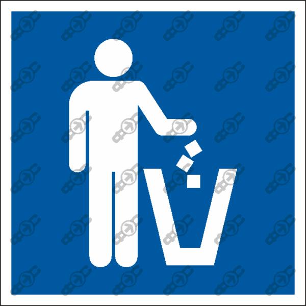 Знак D12 - Корзина для мусора