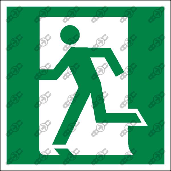 Знак E01-01 - выход здесь (левосторонний)