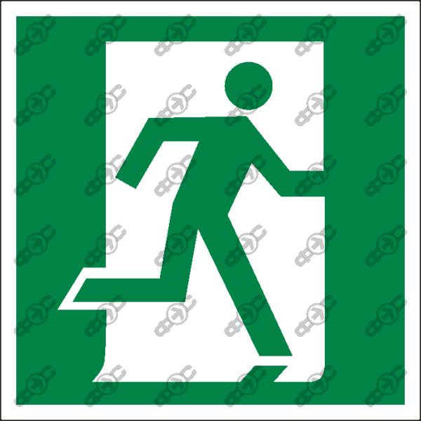 Знак E01-02 - выход здесь (правосторонний)