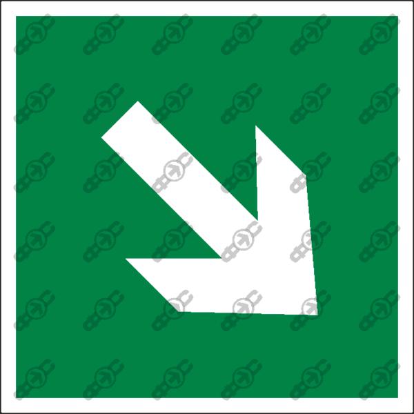 Знак E02-02 - направляющая стрелка под углом 45 градусов