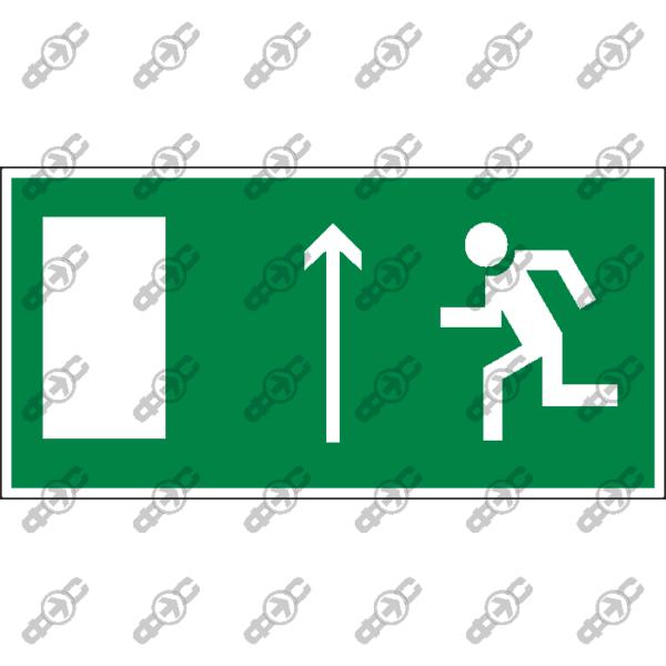 Знак E12 - направление к эвакуационному выходу прямо