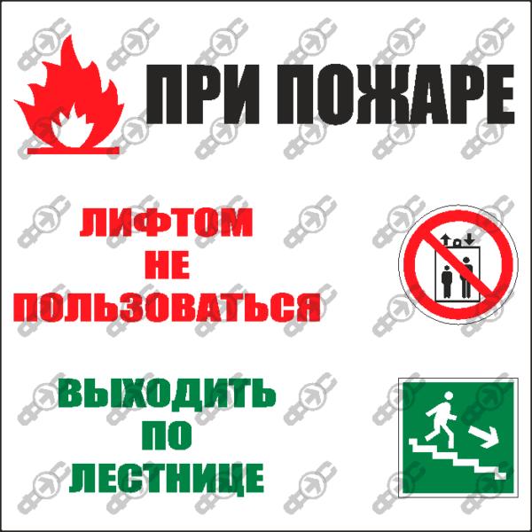 Знак E24 - порядок действий при пожаре
