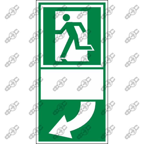 Знак E28 - Для выхода нажать на ручку двери справа