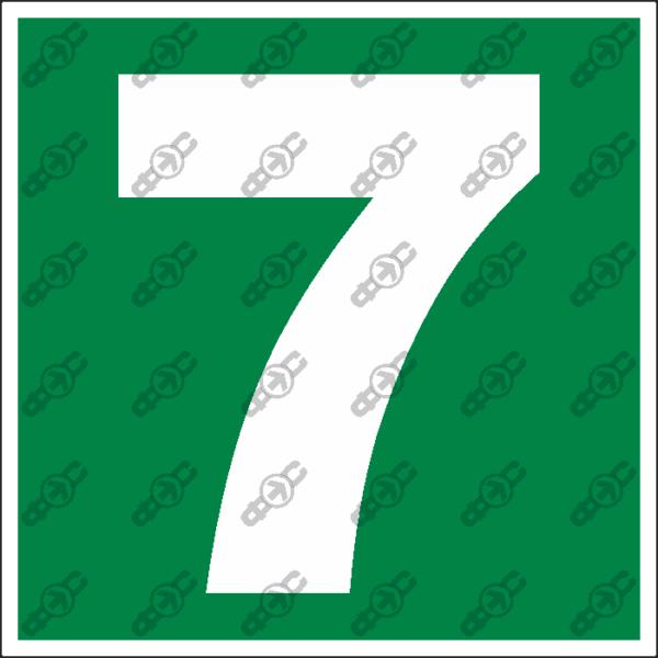 Знак E36 - Семерка