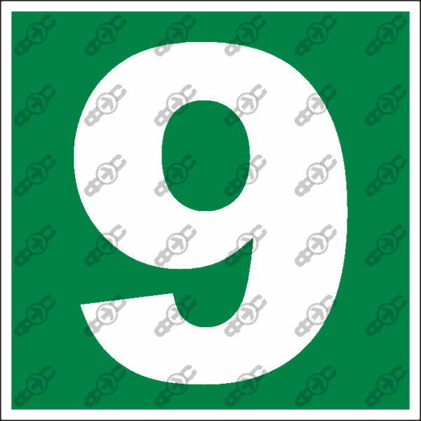 Знак E38 - Девятка