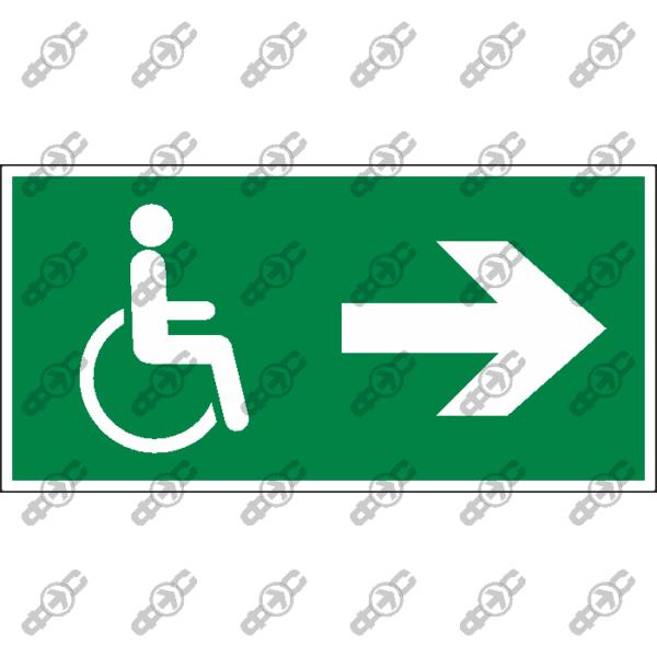 Знак E51 - Направление движения лиц с ограниченными возможностями