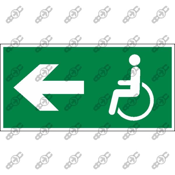 Знак E52 - Направление движения лиц с ограниченными возможностями