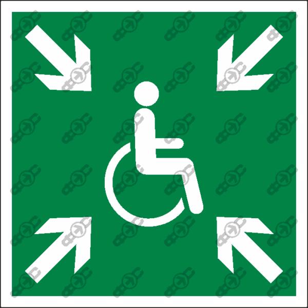 Знак E53 - Пункт (место) сбора лиц с ограниченными возможностями