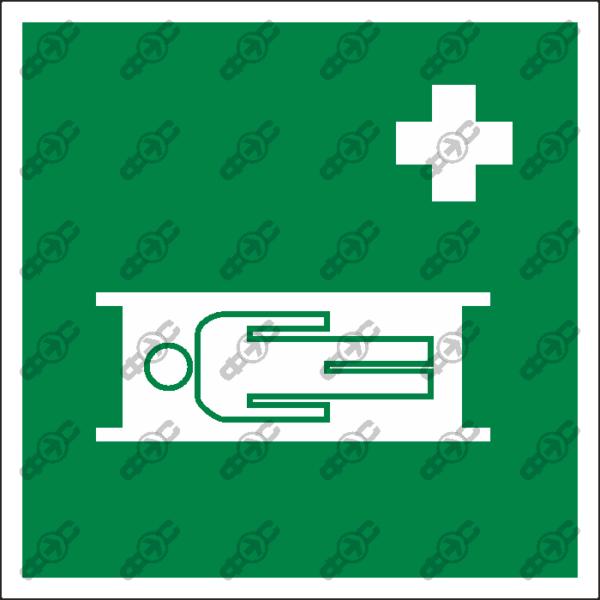 Знак EC02 - средства выноса (эвакуации) пораженных.