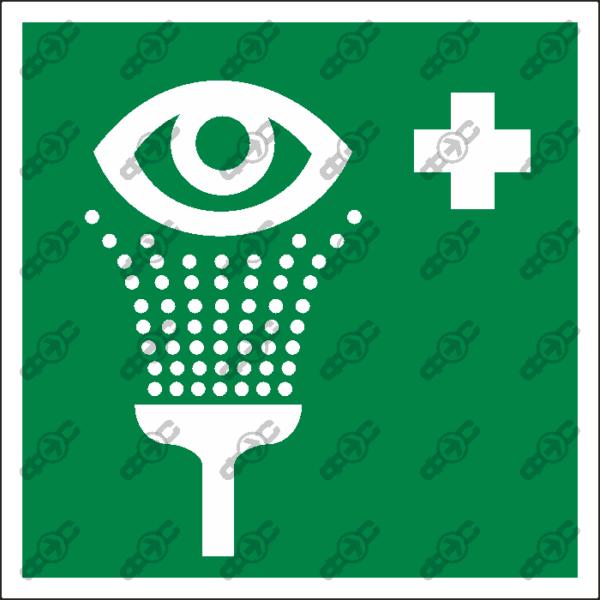 Знак EC04 - пункт обработки глаз
