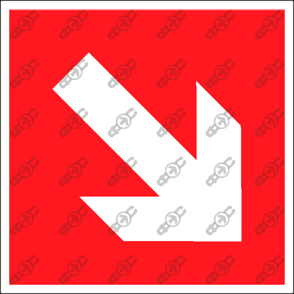 Знак F01-02 - направляющая стрелка под углом 45°