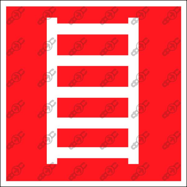 Знак F03 - пожарная лестница