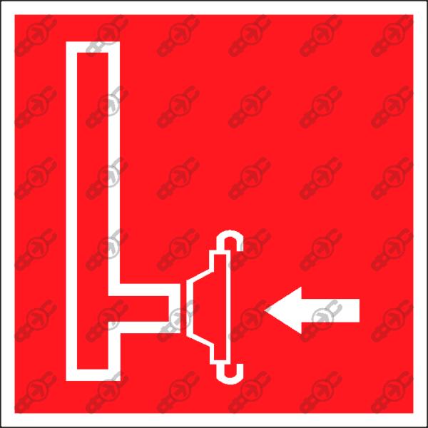 Знак F08 - пожарный сухотрубный стояк