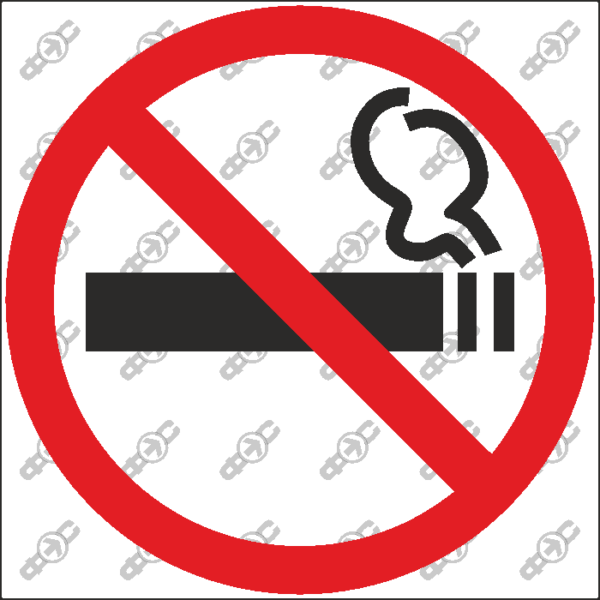 Знак P01-00 — Курить запрещено!