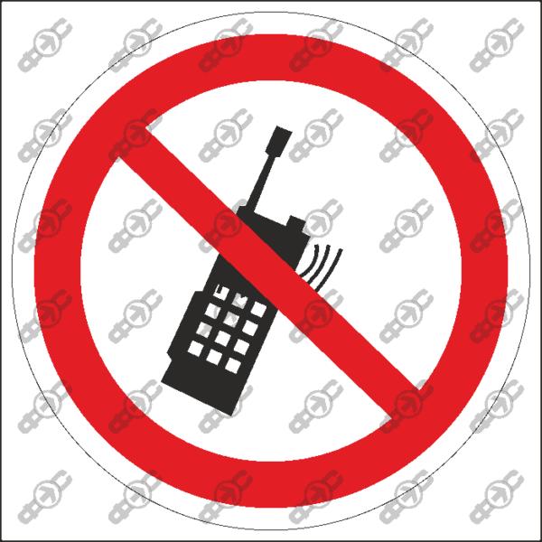 Знак P18 — Запрещается пользоваться мобильным (сотовым) телефоном или переносной рацией