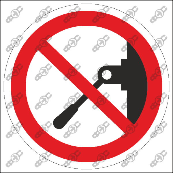 Знак P20 — Запрещается включать машину (устройство)