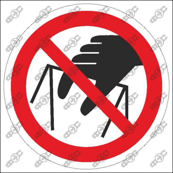 Знак P33 — Запрещается брать руками. Сыпучая масса (непрочная упаковка)