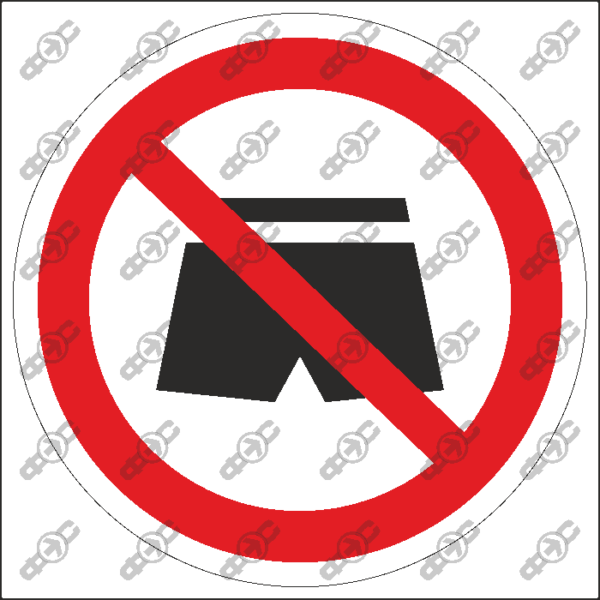 Знак P36 — Вход в шортах запрещен