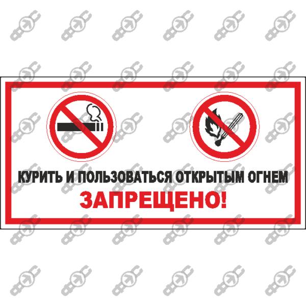 Знак P42 — Курить и пользоваться открытым огнем запрещено
