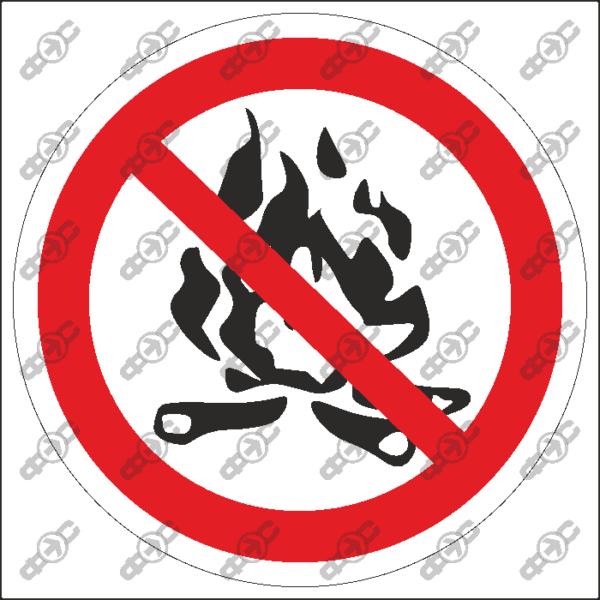 Знак P45 — Разводить костры запрещено