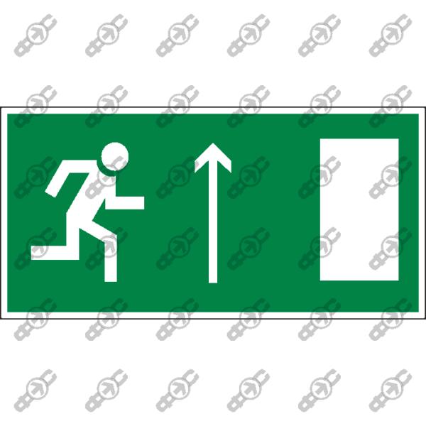 Знак E11 - направление к эвакуационному выходу прямо