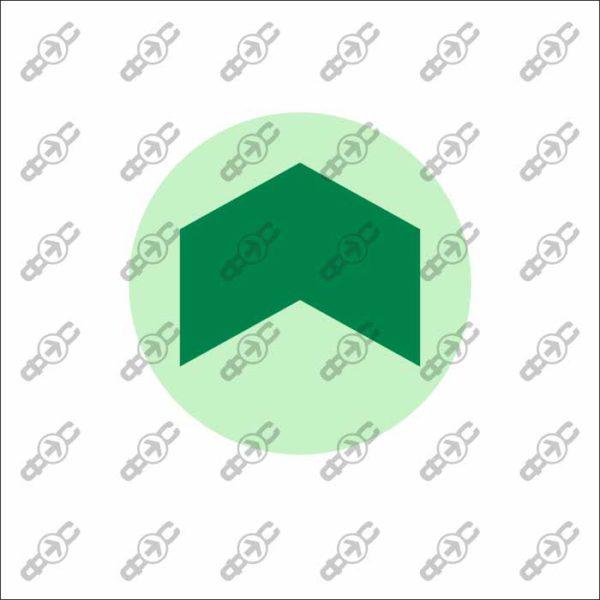 Фотолюминесцентный знак с защитным слоем EМ-18