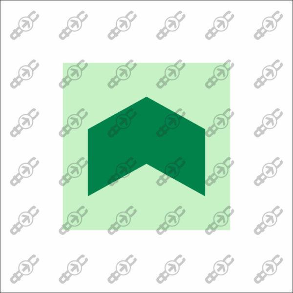 Фотолюминесцентный знак с защитным слоем EМ-19-10