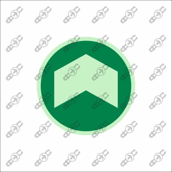 Фотолюминесцентный знак с защитным слоем EМ-20