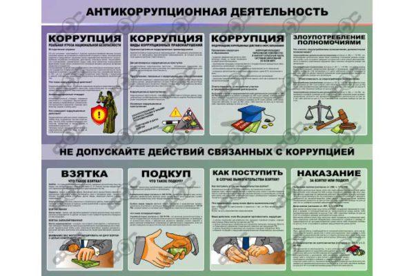 Стенды по антикоррупции