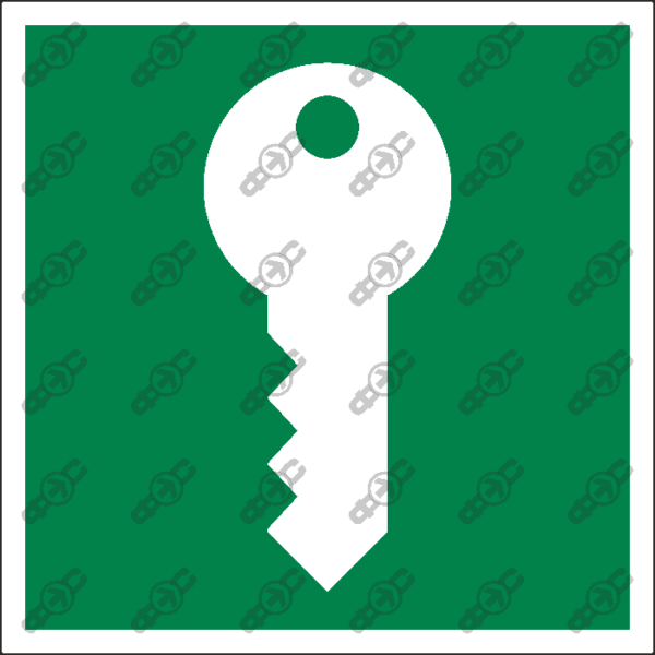 Знак E55 - Место хранения ключей