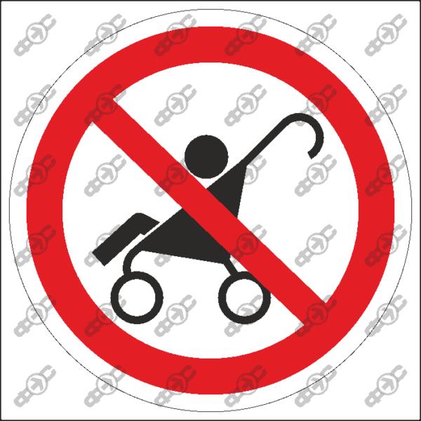 Знак P54 — Проход с коляской запрещен