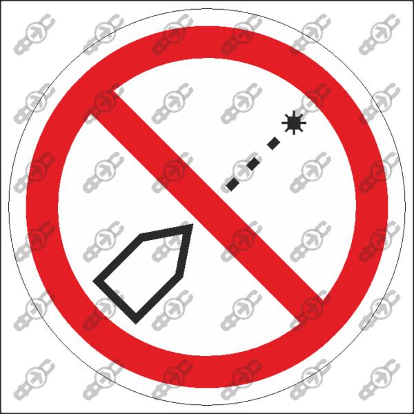 Знак P65 — Запрещается использовать лазер