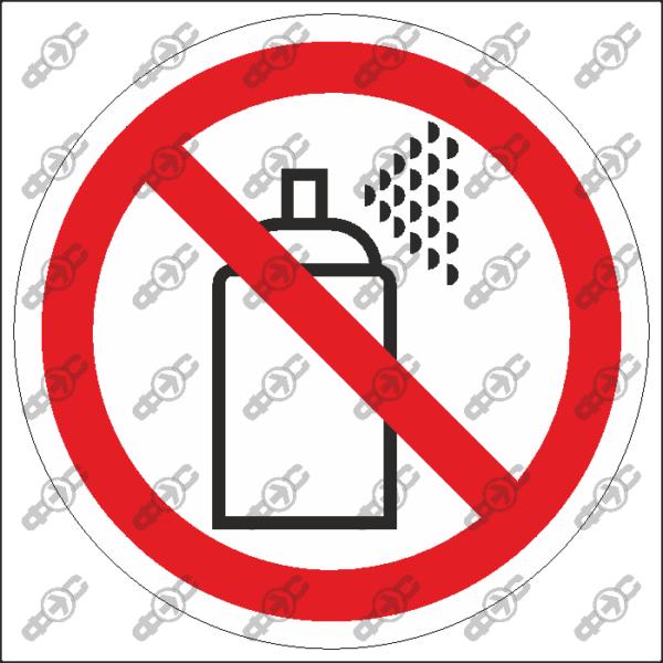 Знак P66 — Проход с аэрозолями и газовыми баллончиками запрещён