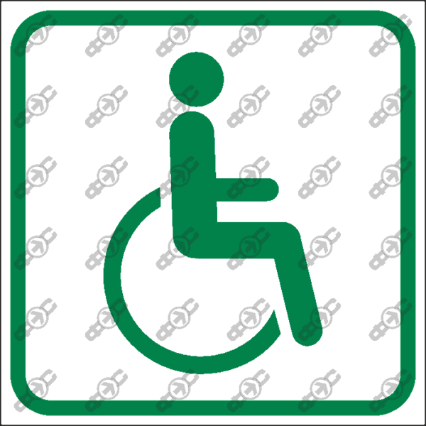 Знак T04 — Места для лиц с ограниченными возможностями